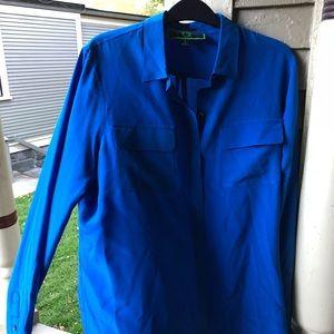NWOT from Nordstrom C. Wonder bright blue silk